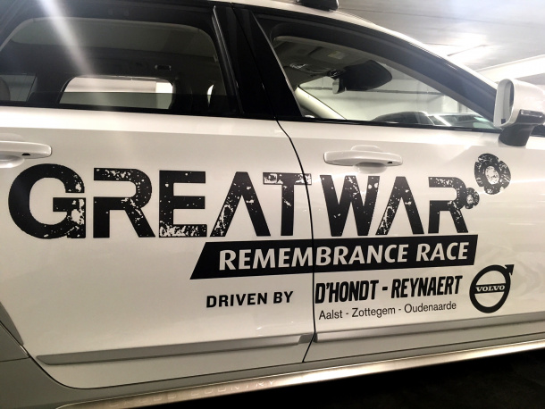 Belettering Great War Remembrance Race